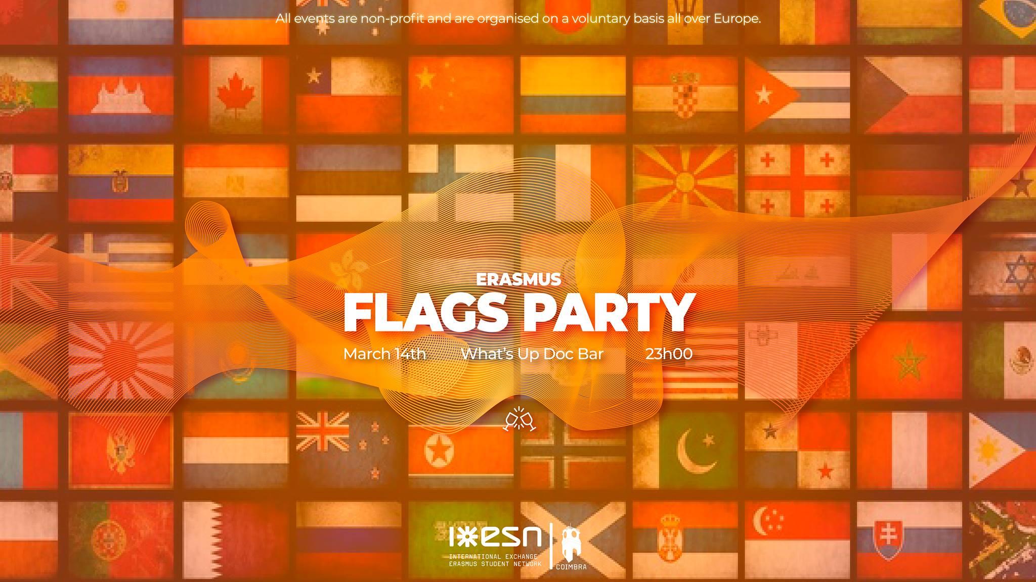 Erasmus Flags Party Esn Coimbra